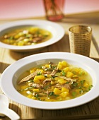 Curried duck soup with mango