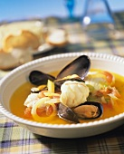 Marseilles style bouillabaisse with aioli