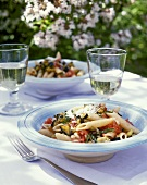 Penne aumm aumm (Penne with aubergines & tomatoes)