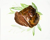 Braised leg of venison