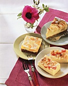 Almond- and apple cheesecakes; mandarin yoghurt cake