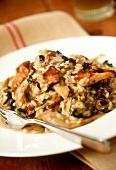 Risotto ai funghi (Mushroom risotto with garlic and herbs)