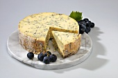 Blue Stilton (blue cheese from E. Midlands, England)