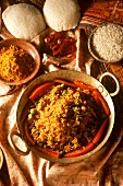 Rice masala (rice with Indian spice mixture & vegetables)
