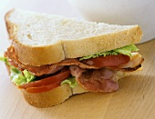 Bacon, lettuce and tomato sandwich (BLT)