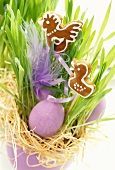 Easter gingerbread in an Easter decoration
