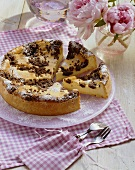Russian curd cheese cake with chocolate sprinkles
