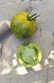 Green and yellow tomato, Green Zebra variety