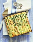 Ricotta and asparagus quiche