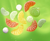 Mixed sweets (fruit gums and lollipops)