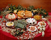 Christmas buffet with dishes from Venezuela
