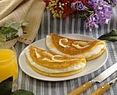 Cachapa (sweetish corn pancakes stuffed with cheese)