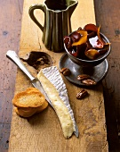 Mature Brie cheese with pickled beetroot & pecan nuts