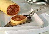 Sponge roll with guava jam (Bolo de rolo)