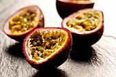 Half maracuyas (passion fruits)