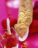 Chili pastry hearts
