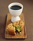 Coffee and pistachio muffin