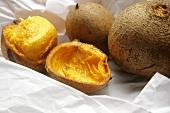 Pekea nuts, whole and halved (Brazil)