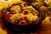 Bacalhau (Stockfischsteaks mit Paprika & Zwiebeln, Brasilien)