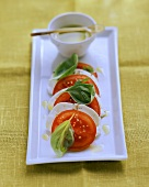 Insalata caprese (Tomato & mozzarella salad with basil)