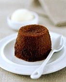 Warm chocolate cake as a dessert