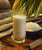 Carato de arroz (Chicha, rice drink, Venezuela)