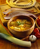 Hervido de pescado (fish soup with vegetables, Venezuela)