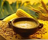 Crema de jojoto (creamed corn soup, Venezuela)