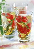Cucumber and fruit punch with mint