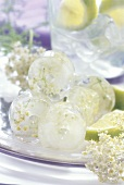Elderflower ice cubes