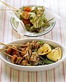 Spiedini con carne e verdura (Veal and courgette kebabs)