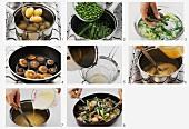Making spring vegetable ragout