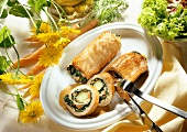Turkey roulades with vegetable stuffing