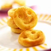 Home-made potato croquettes in Smiley shape