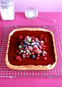 Berry crostata (shortbread with berry cream filling)
