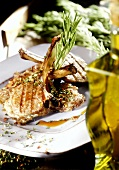 Barbecued lamb chops with Provencal herbs