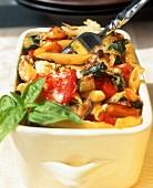 Rigatoni and vegetable bake