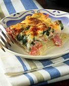 Ham and vegetable lasagne