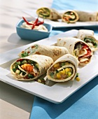 Vegetable wraps with shrimps