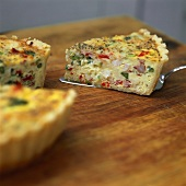 Lobster and asparagus quiche