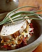 Turkey and radicchio sandwich