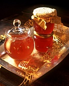 Wine jelly with Danzig Goldwasser and quince jelly