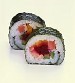 Futomaki-sushi (thicker maki-sushi rolls)