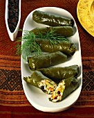 Dolmades; stuffed vine leaves