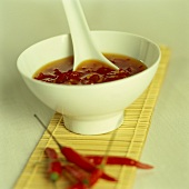 Bowl of sweet and sour chili sauce