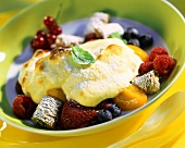 Quark gratin with fruit