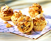Cornflake muffins with dried apricots and raisins