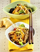Bami Goreng with veal and Asian turkey stir-fry