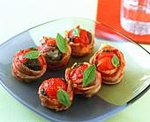 Tomato gratin with bacon