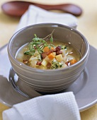 Potato soup with vegetables